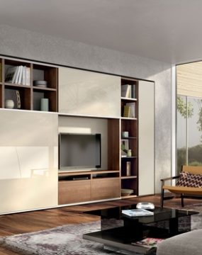 corewalnut,woolwhite lacquer, wool white lacquered glass